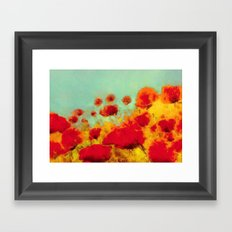 FLOWERS - Poppy time Framed Art Print