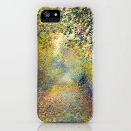 "Auguste Renoir  ""In the Woods"" iPhone Case"