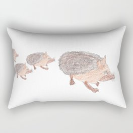 Desert Hedgehog Rectangular Pillow