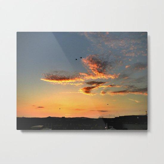 Saturday Sunset Metal Print