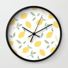 Fresh summer lemons. Wall Clock