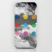 Storm Clouds + Colored Dots iPhone 6s Slim Case