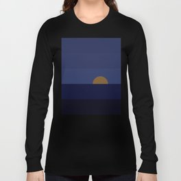 Moonrise over ocean Long Sleeve T-shirt