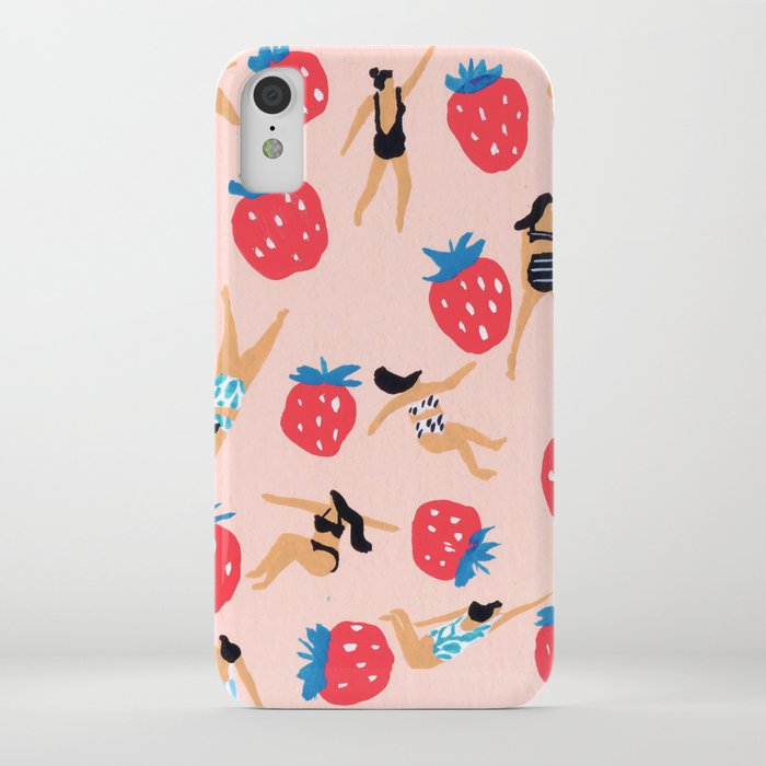 Strawberry Season iPhone Case