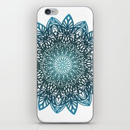 Blue mandala iPhone Skin