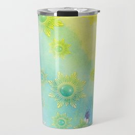 Watercolor Jewels Travel Mug