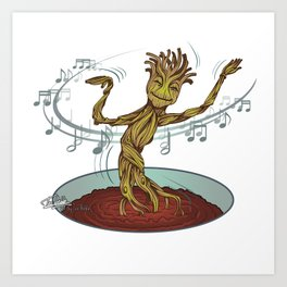 Guardians of the Galaxy - Dancing Baby GROOT Art Print