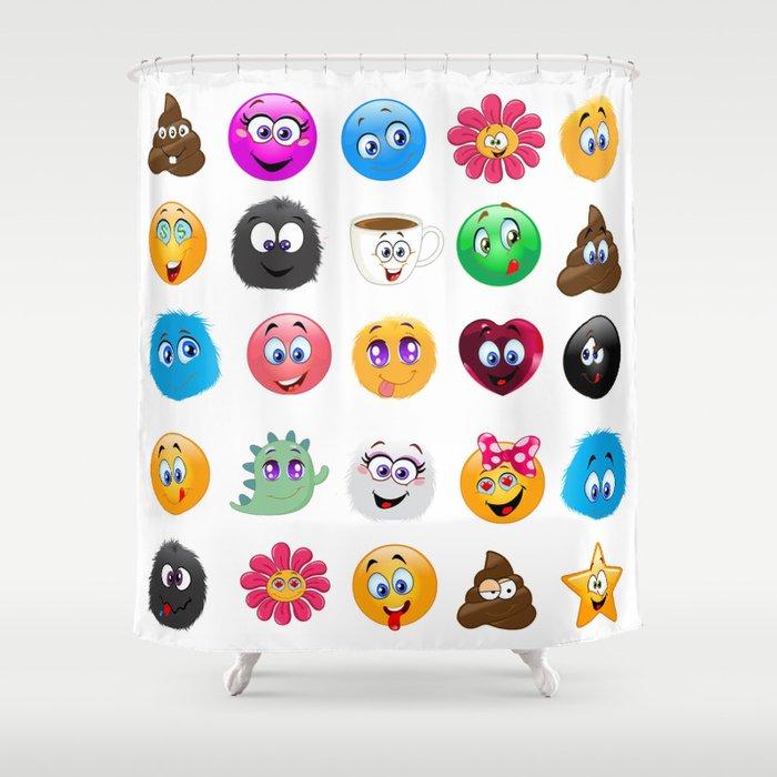 Emoji Shower Curtain By Mariannamills