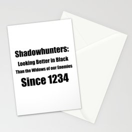 Shadowhunters: Looking Better in Black Stationery Cards