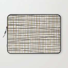 Line Art - Gold and Black Lines on White - Mix and Match with Simplicty of Life Laptop Sleeve