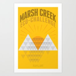 Marsh Creek Eco-Challenge 2015; Shirt Art Art Print