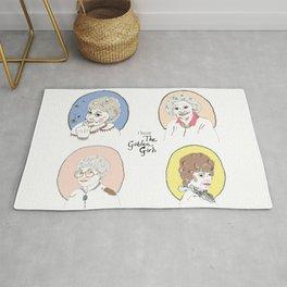 I Heart the Golden Girls Print Rug