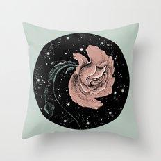 Warped Rose Throw Pillow