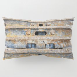 Rusty excavator caterpillar Pillow Sham