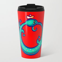 Ouroboros - blue Travel Mug