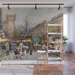 Paris Porte Saint-Denis, Paris, France by Eugene Lalien Laloue Wall Mural