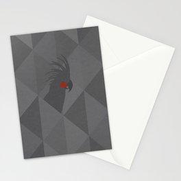 Black palm cockatoo Stationery Cards