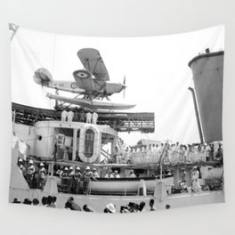 Arrival of the Negus to Haifa 1936 Wall Tapestry