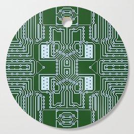 Computer Geek Circuit Board Pattern Cutting Board