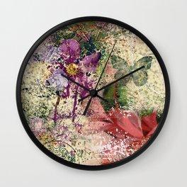 Garden shabby texture Wall Clock