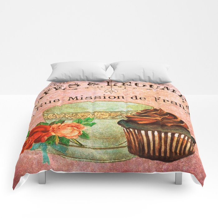 Sweets Vintage Poster 03 Comforters