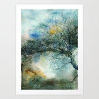lake Art Prints featuring Lake by Iris V.