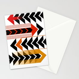 Colourful Arrows Graphic Art Design Stationery Cards