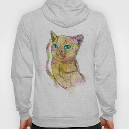 Coloured Cat Hoody
