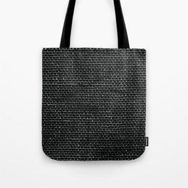 Black Burlap texture  Tote Bag