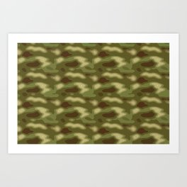Camo pattern Art Print