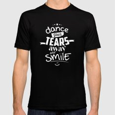 Smile (1) Black Mens Fitted Tee MEDIUM