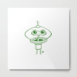 Little Green Man Metal Print