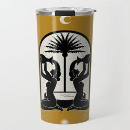 The golden fountain Travel Mug