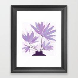 Lilac Blooms / Botanical Framed Art Print