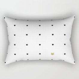 One Golden Cat - White Rectangular Pillow