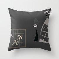 kandinsky Throw Pillows featuring Kandinsky...comics! by Marcia Borges