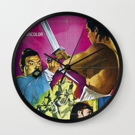 The One-Armed Swordsman Wall Clock