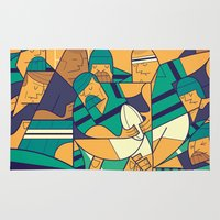 rugby Area & Throw Rugs featuring Rugby 2 by Ale Giorgini