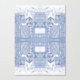 Blue Inhabited Plain Canvas Print