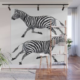 Zebras Pen and Ink tattoos by Lorloves Design Wall Mural