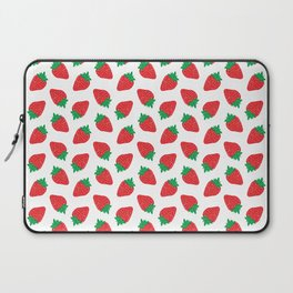 Cream Strawberries Pattern Laptop Sleeve