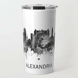 Alexandria Egypt Skyline BW Travel Mug