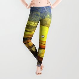 Sunset Fishing Istanbul Van Gogh Leggings