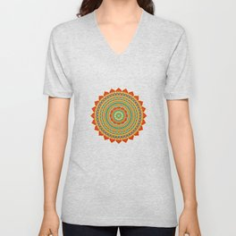 Mandala of Happyness, Health and Wealth Unisex V-Neck