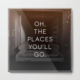 Oh, The Places You'll Go (Morgue) Metal Print
