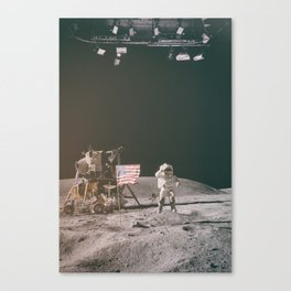 Moon Landing - Stanley Kubrick outtakes Canvas Print