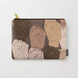 NO Racism ! Vector raised fists, power to the people, Vector seamless pattern Carry-All Pouch