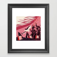 The daily commute Framed Art Print