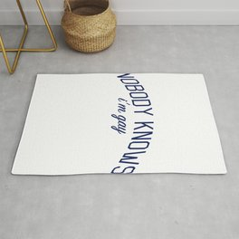 Nobody Knows I'm Gay-  Coming Out Print Rug