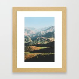 Layers of the Atlas Mountains, Africa Framed Art Print